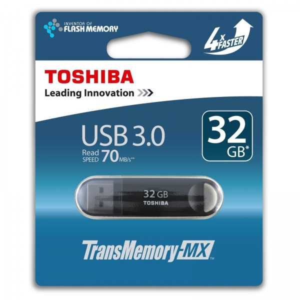 Toshiba USB3.0 Stick TransMemory-MX 32GB Black (456388)